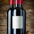 Bottles of red wine — Stock Photo