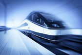 Train in motion, monochromatic — Stock Photo