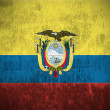 Grunge flag of Ecuador — Stock Photo