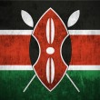 Grunge flag of Kenya — Foto Stock