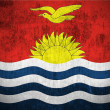 Grunge flag of Kiribati — Stock Photo