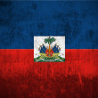 Grunge flag of Haiti — Stockfoto