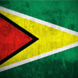Stock Photo: Grunge flag of Guyana