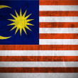 Grunge flag of Malaysia — Photo