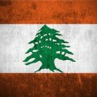 Grunge flag of Lebanon — Stockfoto