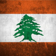 Grunge flag of Lebanon — Foto Stock