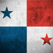 Grunge flag of Panama — Foto de Stock