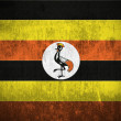 Grunge Flag Of Uganda — Stockfoto
