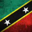 Stock Photo: Grunge Flag Of Saint Kitts and Nevis