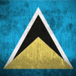 Stock Photo: Grunge Flag Of Saint Lucia