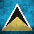 Grunge Flag Of Saint Lucia — Stock Photo