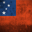 Grunge Flag Of Samoa — Stock Photo