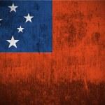 Grunge Flag Of Samoa — Stock Photo