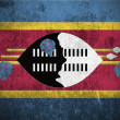 Grunge Flag Of Swaziland — Stock Photo