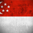 Grunge Flag Of Singapore — Foto Stock
