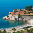 Sveti Stefan resort island-hotel in Montenegro - Stock Photo