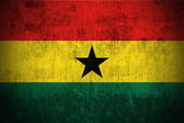 Grunge flag of Ghana — Stock Photo