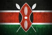Grunge flag of Kenya — Stock Photo