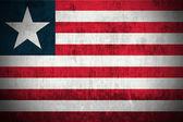 Grunge flag of Liberia — Stock Photo
