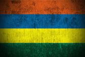 Grunge flag of Mauritius — Stock Photo
