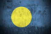 Grunge flag of Palau — Stock Photo