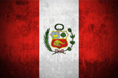Grunge flag of Peru — Stock Photo