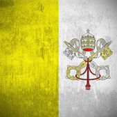 Grunge Flag Of Vatican — Stock Photo