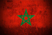 Grunge flag of Morocco — Stock Photo