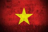 Drapeau de grunge du vietnam — Photo