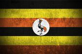Grunge Flag Of Uganda — Stock Photo