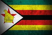 Grunge Flag Of Zimbabwe — Stock Photo