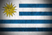 Grunge Flag Of Uruguay — Stock Photo