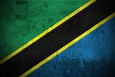 Grunge Flag Of Tanzania — Stock Photo