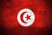Grunge Flag Of Tunisia — Stock Photo