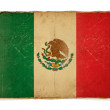 Grunge flag of Mexico — Stockfoto
