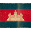 Grunge flag of Cambodia — Stockfoto