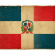 Grunge flag of Dominican republic — Foto Stock