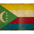 Grunge flag of Comoros — Foto Stock