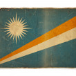 Grunge flag of Marshall Islands — Foto de Stock