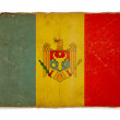 Stock Photo: Grunge flag of Moldova