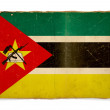 Grunge flag of Mozambique — Foto Stock
