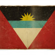Grunge flag of Antigua and Barbuda — Photo