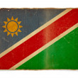 Grunge flag of Namibia — Photo