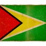 Grunge flag of Guyana — Stock Photo