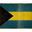 Grunge flag of Bahamas — Photo
