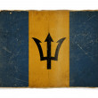 Grunge flag of Barbados - Stock Photo