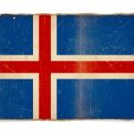 Grunge flag of Iceland — Stock Photo