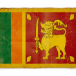 Grunge flag of Sri Lanka — Foto Stock