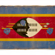 Grunge flag of Swaziland — Foto Stock