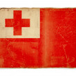 Grunge flag of Tonga - 